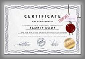 picture of macrame  - Vintage certificate template with detailed border and calligraphic elements on dotted paper with safety watermarks in vector - JPG