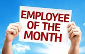 stock photo of employee month  - Employee of the Month card with a beautiful day - JPG