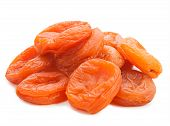 stock photo of apricot  - dried apricots isolated on a white background - JPG