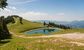 image of accumulative  - Accumulation lake on beautiful Golte hill - JPG
