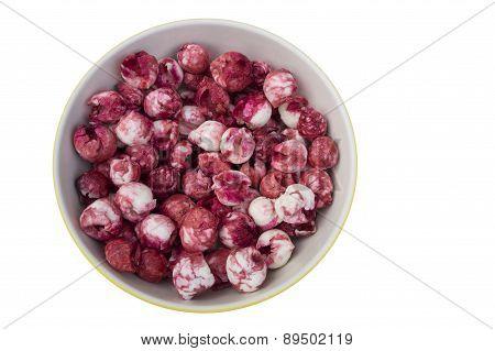 Manila Tamarind Fruit Red Pink Sweet Taste Seed Concept