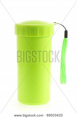 Green Color Plastic And Bottle Water Canteen Tumbler