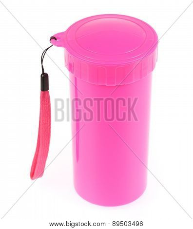 Pink Color Plastic And Bottle Water Canteen Tumbler