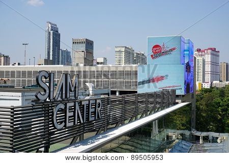Siam Paragon Mall In The Siam Square Area In Bangkok