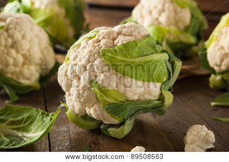Raw Organic Cauliflower Heads