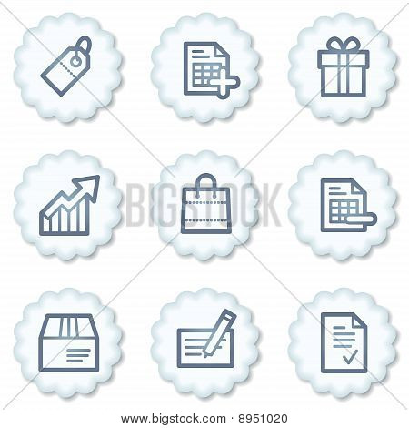 Shopping Web Icons Set 1, White Buttons