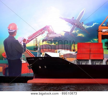 Manager Working In Ship Port And Air Plane Cargo Logistic Use As Import Export ,transportation Shipp