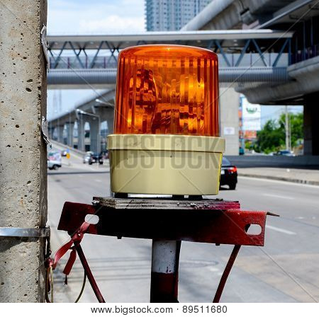Orange Siren Lamp