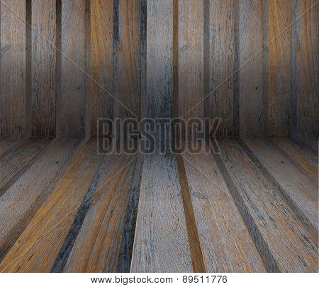 Interior Room With Wooden Tiles