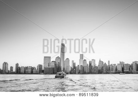Skyline Of Lower Manhattan Of New York City From Exchange Place