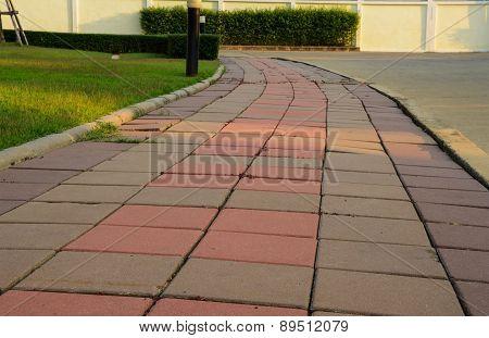 Walking Street Beside The Garden