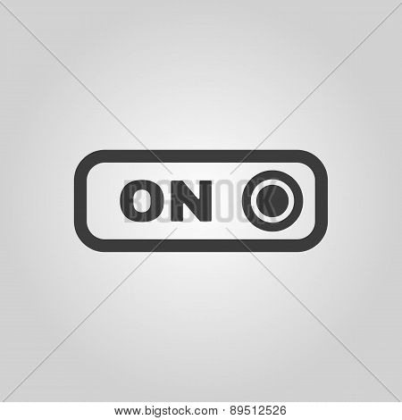 The On Button Icon. Switch Symbol. Flat