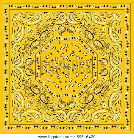 Yellow Bandana Print