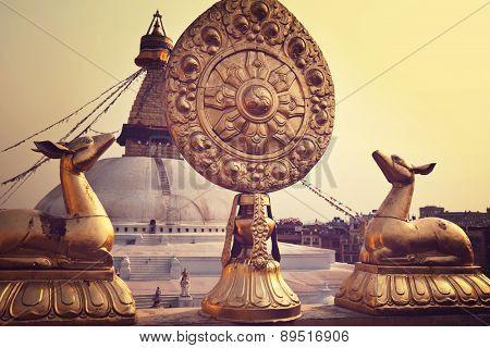 Boudhanath stupa, Kathmandu, Nepal.Before earthquake.
