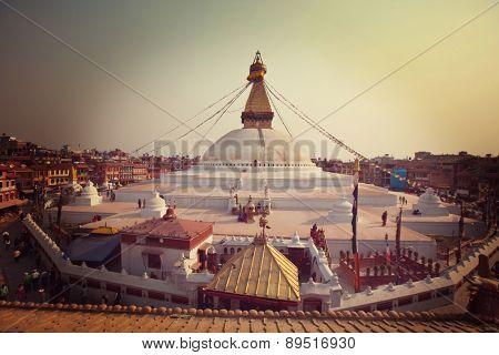 Boudhanath stupa, Kathmandu, Nepal. Before earthquake.
