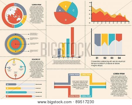 Creative infographic elements collection for your business presentation and corporate needs.