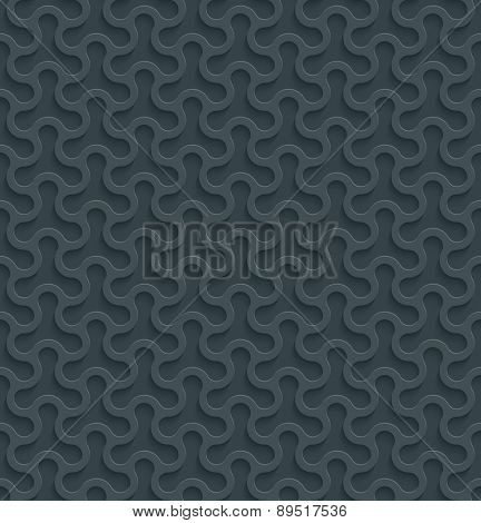 3D Dark gray seamless wallpaper with cut out effect. See others in a Perforated Paper Set. Vector EPS10.