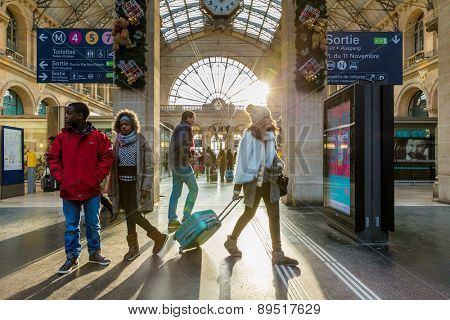 PARIS, FRANCE - CIRCA JAN 2015: Gare du Nord Station in Paris, France.