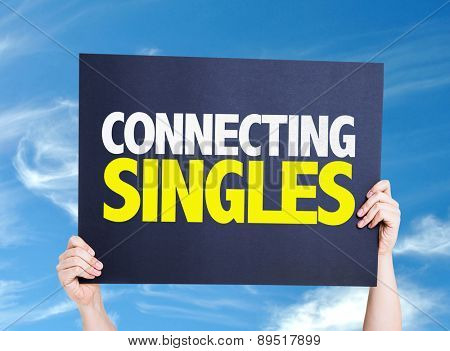 Connecting Singles card with sky background