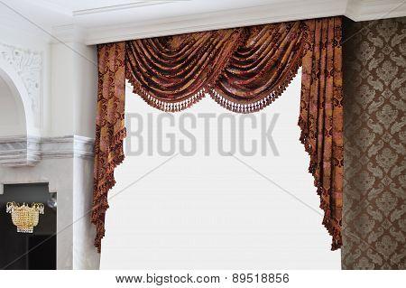 Beautiful Vintage Curtain In Room