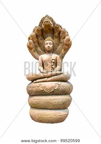 Buddha Image Isolated On White Background