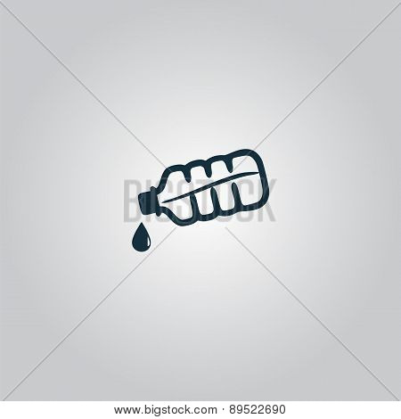 Water bottle with drop icon