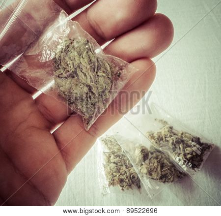 Marijuana In Plastic Bags
