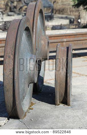 Old Railway Wheels