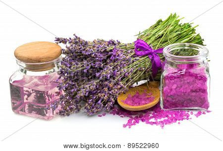 Cosmetic Natural Product, Lavender, Oil, Aroma Salt