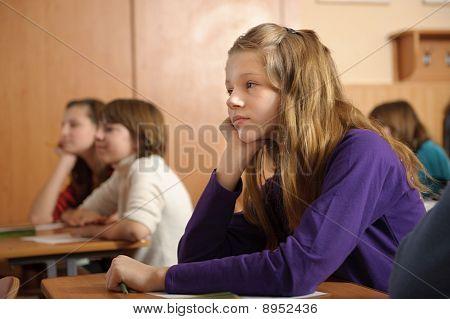 Bored Schoolgirl
