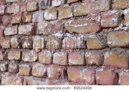 Structure Of The Old Brickwork Red Brick