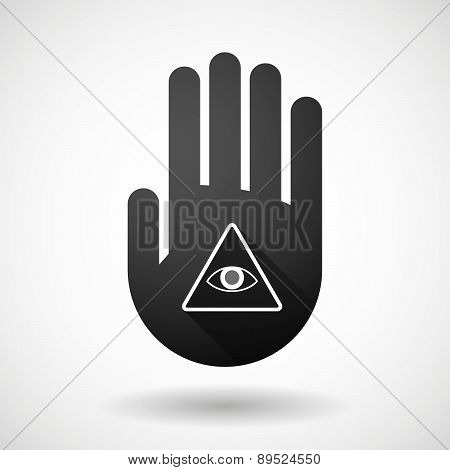 Black Hand Icon With An All Seeing Eye