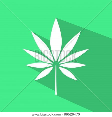 Vector Symbol of a Hemp Leaf.
