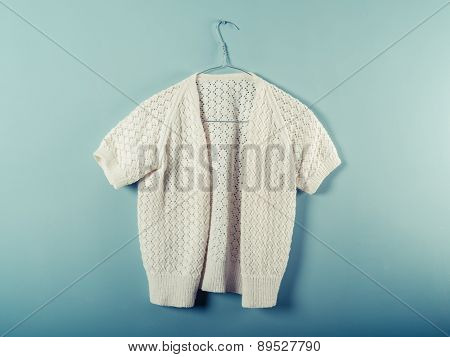 Woolen Jumper On Wirer Hanger
