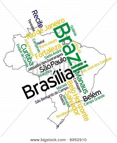 Brazil Map And Cities