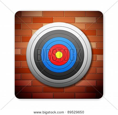 Brick And Target Icon