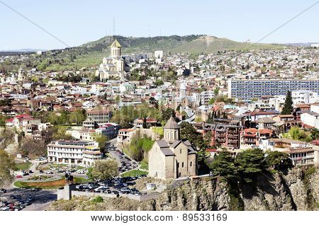 Tbilisi, Old town Panoramic view