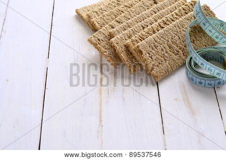 Healthy food - buckwheat, rye crispbread