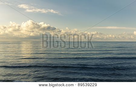 Landscape view of beautiful deep blue sea