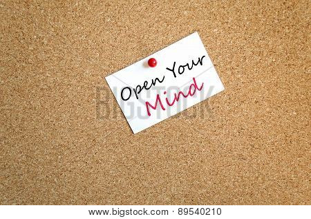 Sticky Note Open Your Mind Concept