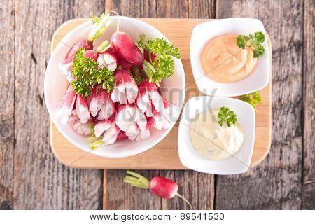 radish and sauce