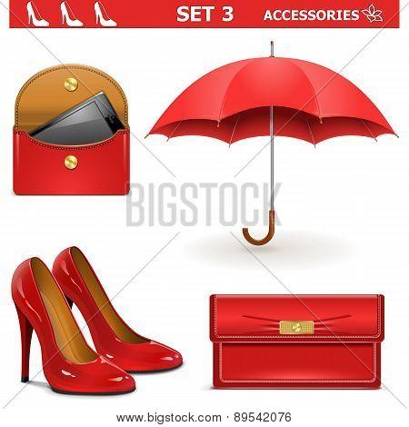 Vector Female Accessories Set 3