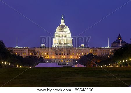The United States Capitol Building In Washington Dc