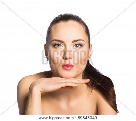 Beautiful Girl Gives Kiss