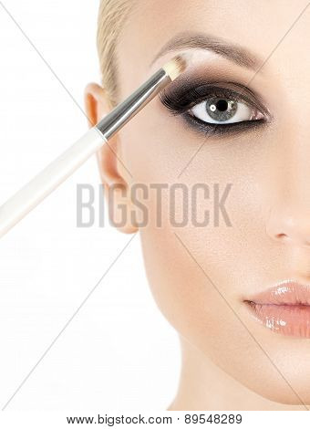 Eyeshadows. Eye shadow brush