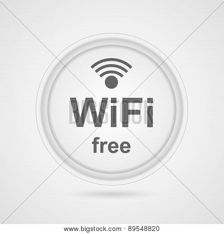 Free Zone Wi-fi Icon. Isolated Illustration