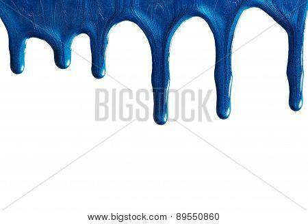 Blot Of Blue Nail Polish