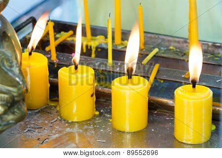 Candles With Flame