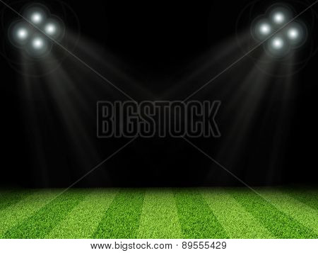 Stadium with bright lights, without indexing