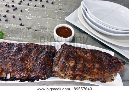 Barbequed Pork Rib Rack